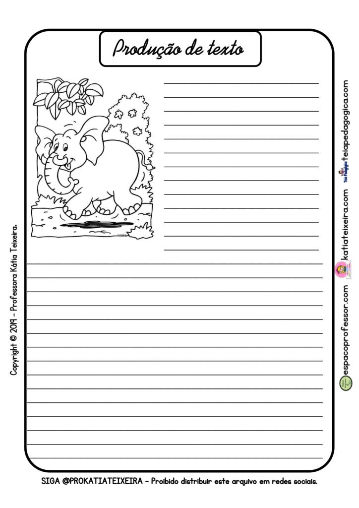 Produção de texto com o tema animais